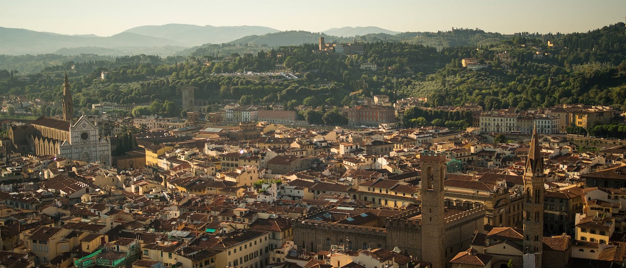 Overview of Florence, Italy