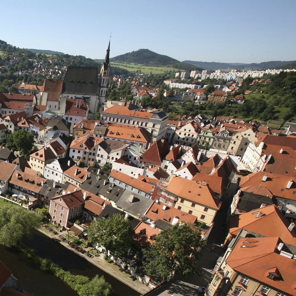 A bird's eye view of Prague, Czech Republic