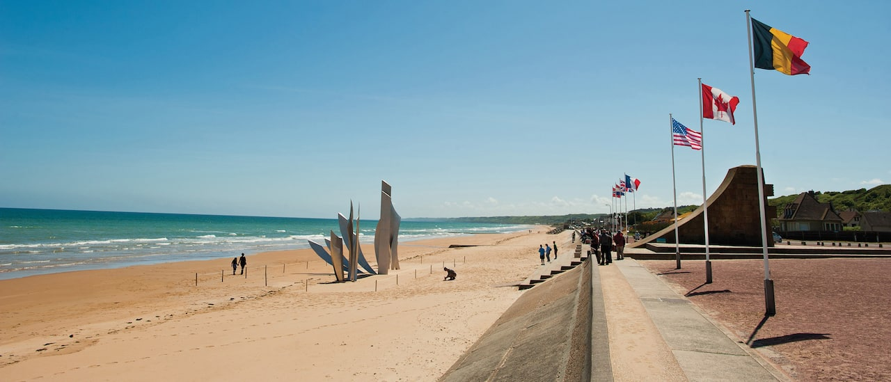 The sculpture at the World War II Normandy American Cemetery and Memorial