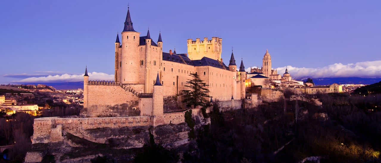 The dramatic Alcazar Castle on a hilltop