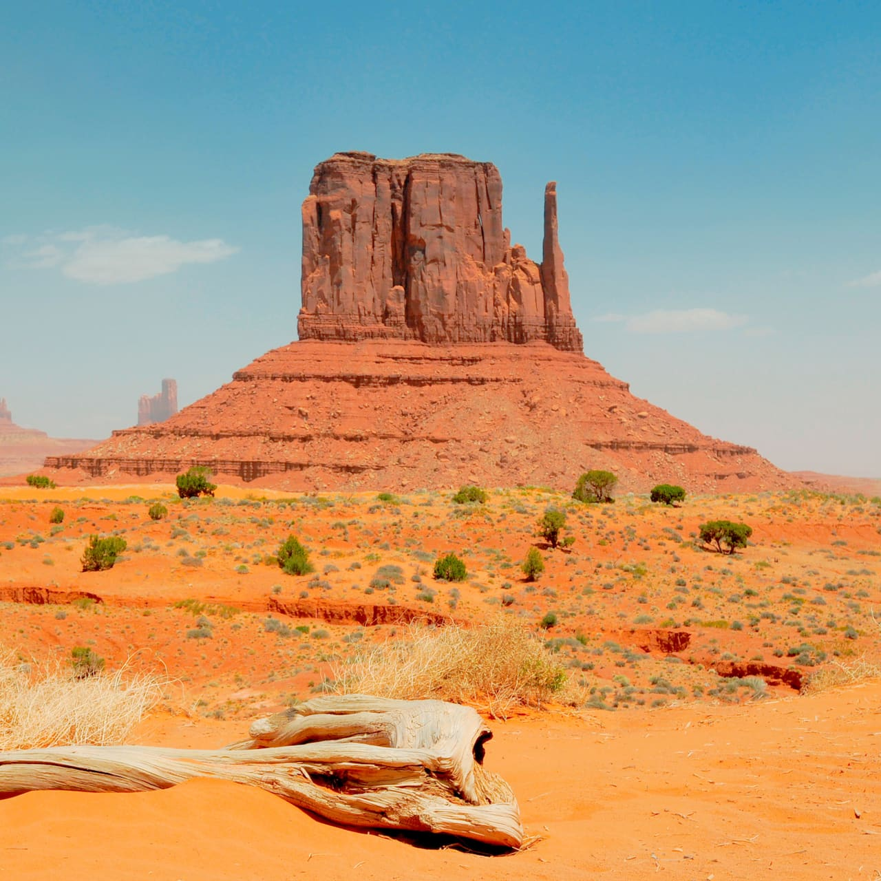 Buttes and rock formations in Monument Valley