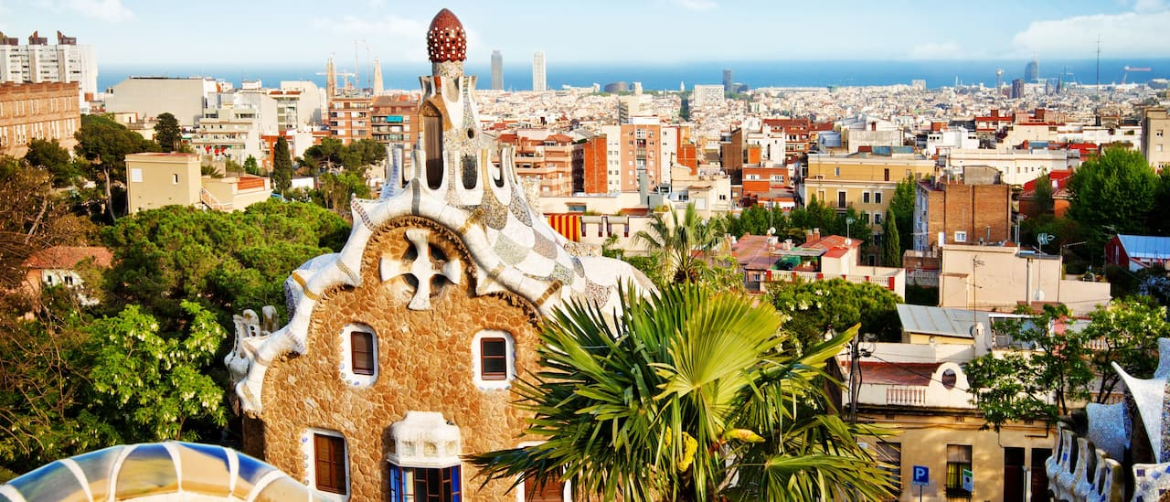 Gaudí's gingerbread-style houses in Parque Güell