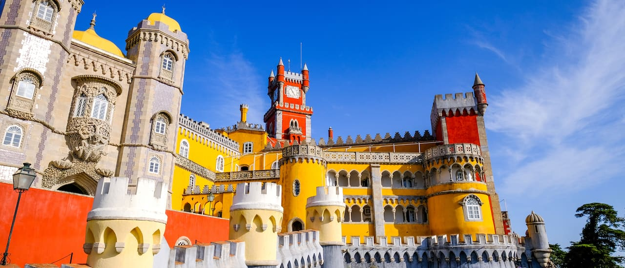 A view of the eclectic styles and design flourishes of Pena Palace