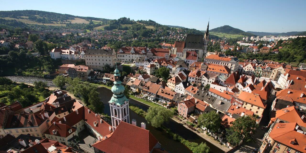 A bird's eye view of Prague, Czech Republic