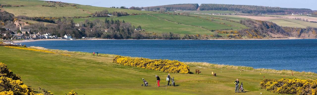 Golfers tee up at Fortrose & Rosemarkie Golf Club
