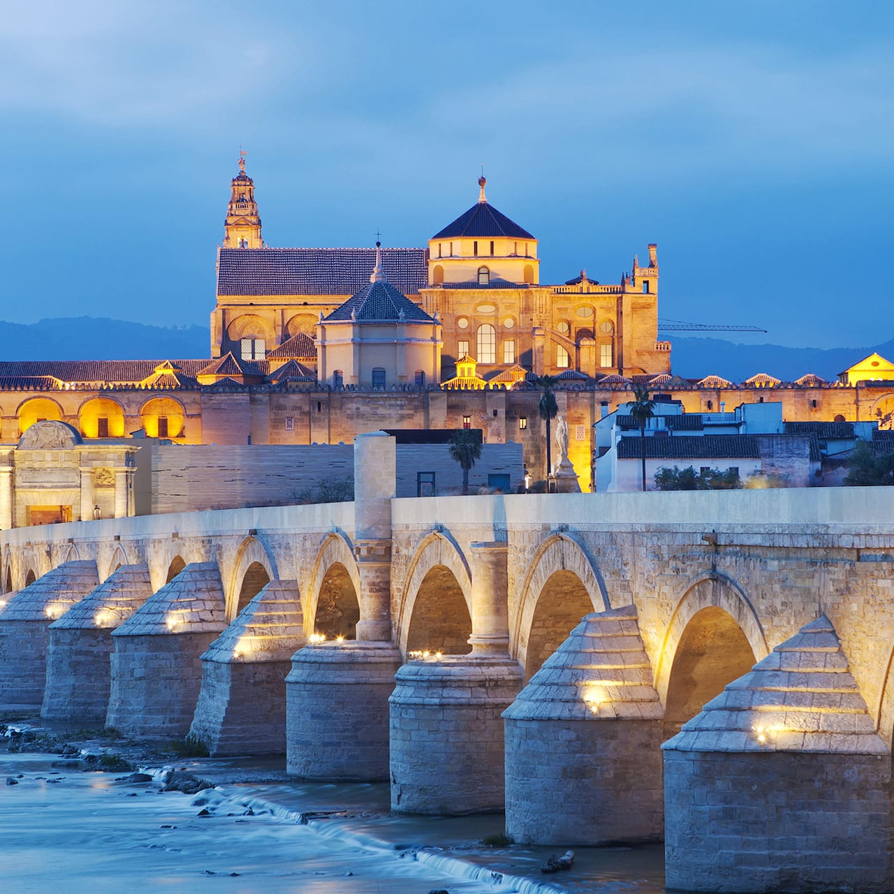 The Great Mosque of Córdoba at sunset
