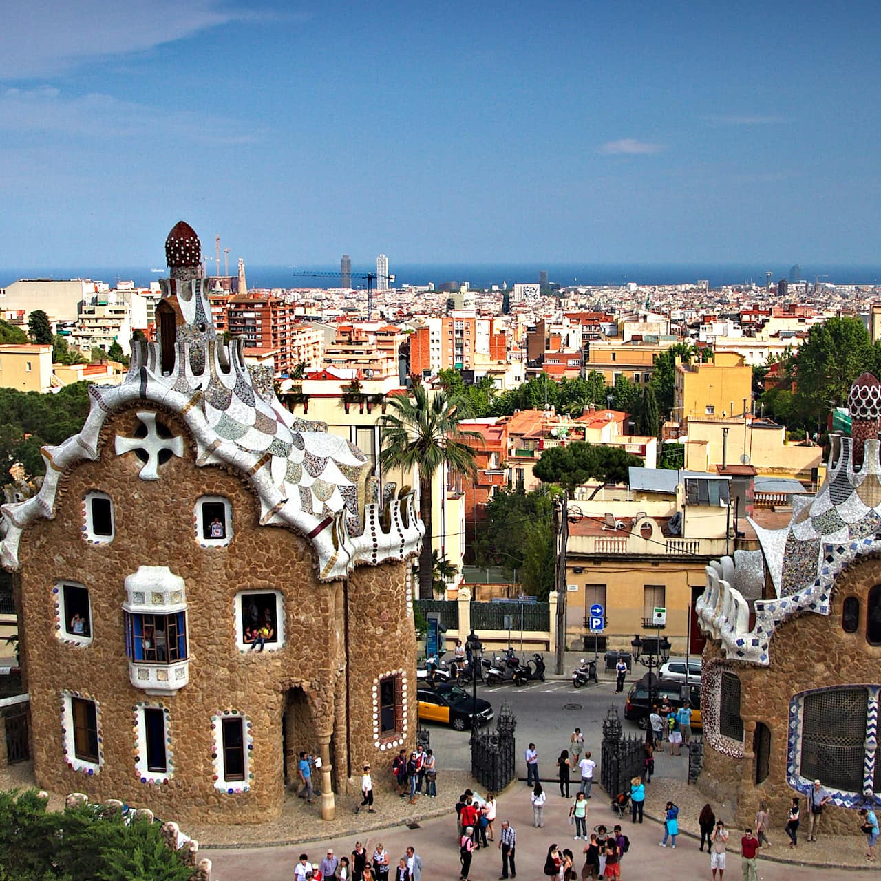 Gaudí's gingerbread-style houses in Park Güell