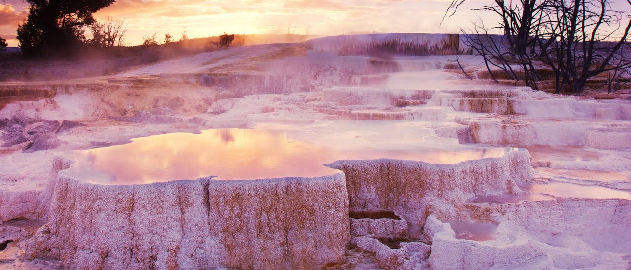 The limestone beauty of Mammoth Hot Springs Terraces