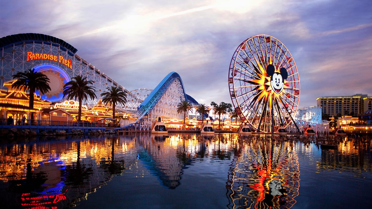 California Screamin and Mickeys Fun Wheel are 2 big attractions that stand out along Paradise Pier