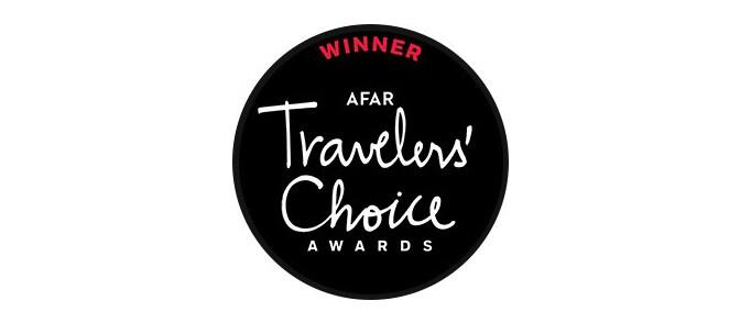 Winner AFAR Travelers' Choice Award logo