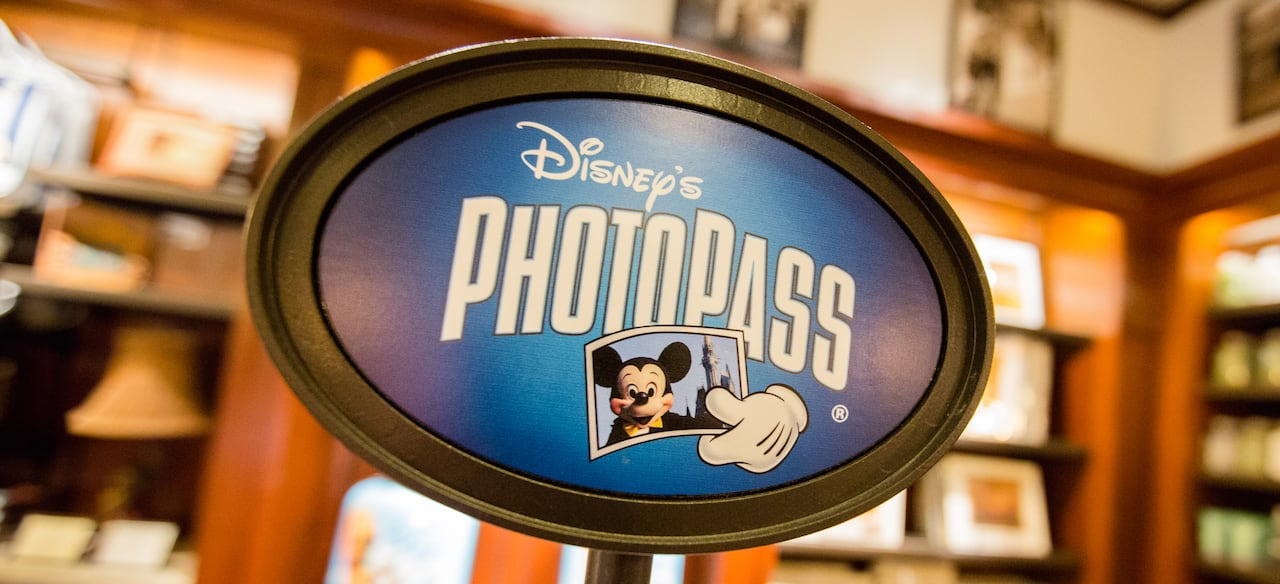 The Disney PhotoPass sign at Kālepa's Store at the Aulani Resort.