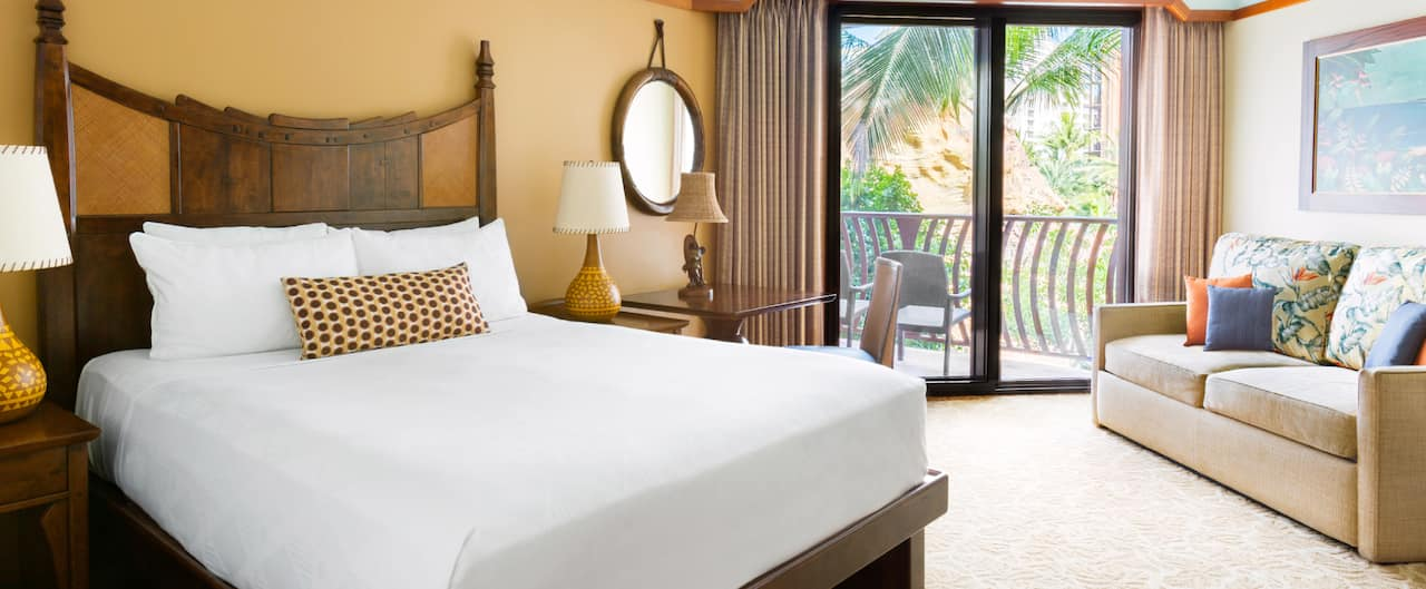 A deluxe studio at Aulani