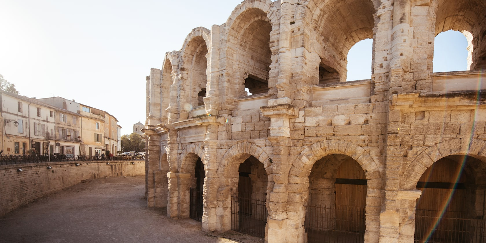 The Arles Amphitheatre in Arles, France