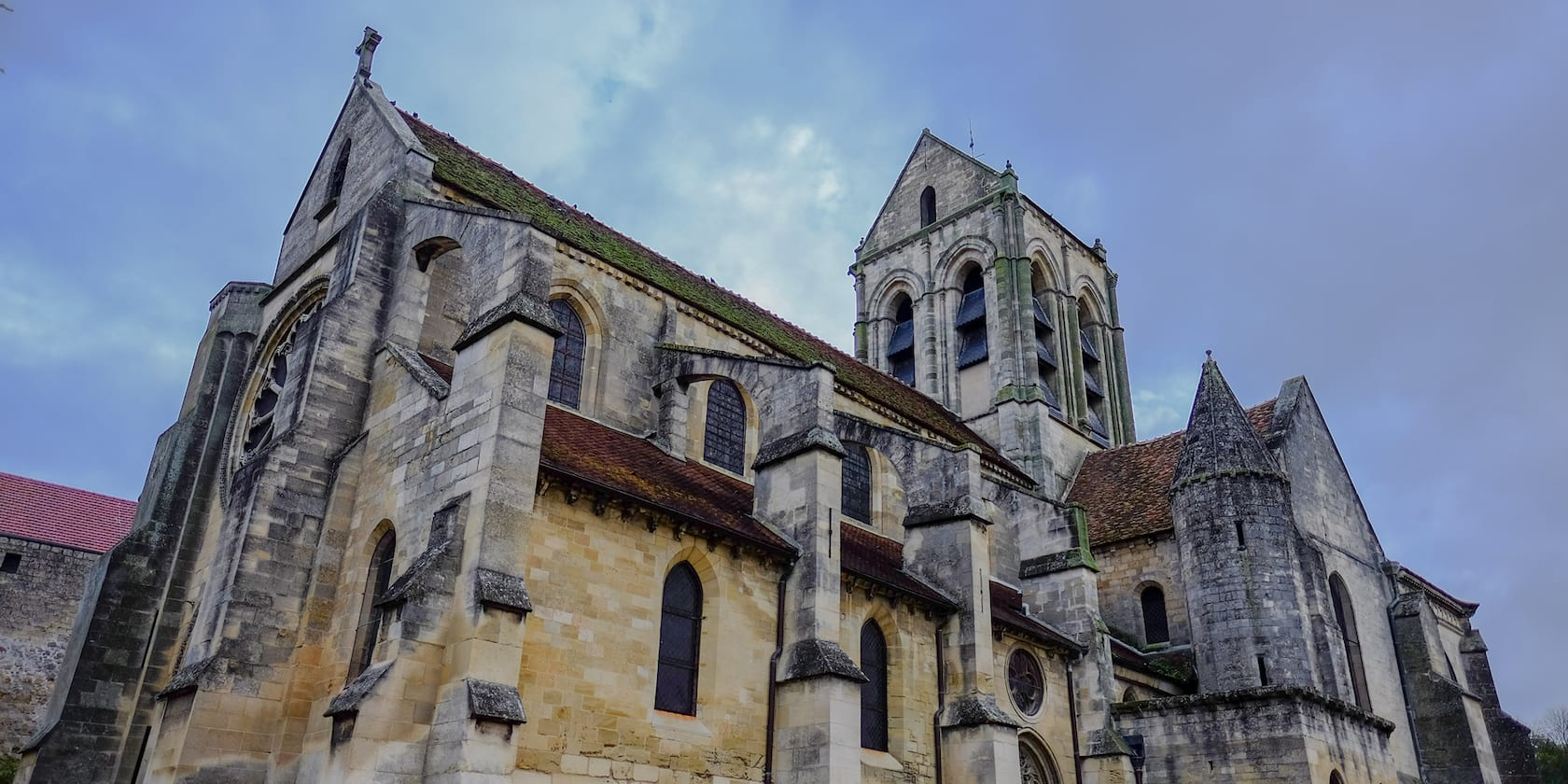 The church of Auvers-sur-Oise in Conflans, France