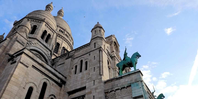 The Basilique of the Sacré Coeur in Montmartre, France