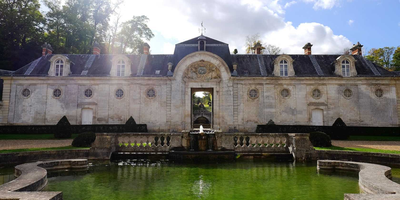 The ornate Chateau de  Bizy in Vernon, France