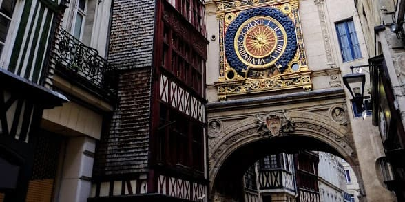 The astronomical clock in the town of Rouen, France