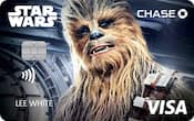 Chase Visa card with Chewbacca design