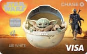 Chase Visa card with The Mandalorian design