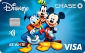 Chase Visa card with Mickey & Pals design