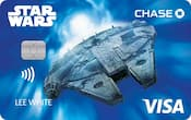 Chase Visa card with Millennium Falcon design