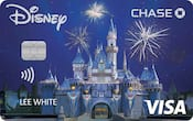 Chase Visa card with Sleeping Beauty Castle design