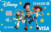 Chase Visa card with Toy Story design