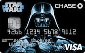 Chase Visa card with Darth Vader design