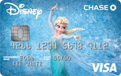 Chase Visa card with Frozen design