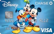 Chase Visa card with Donald Duck, Goofy and Mickey Mouse design