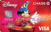 Chase Visa card with Sorcerer Mickey Mouse design