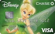 Chase Visa card with Tinker Bell design