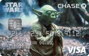 Chase Visa card with Yoda design