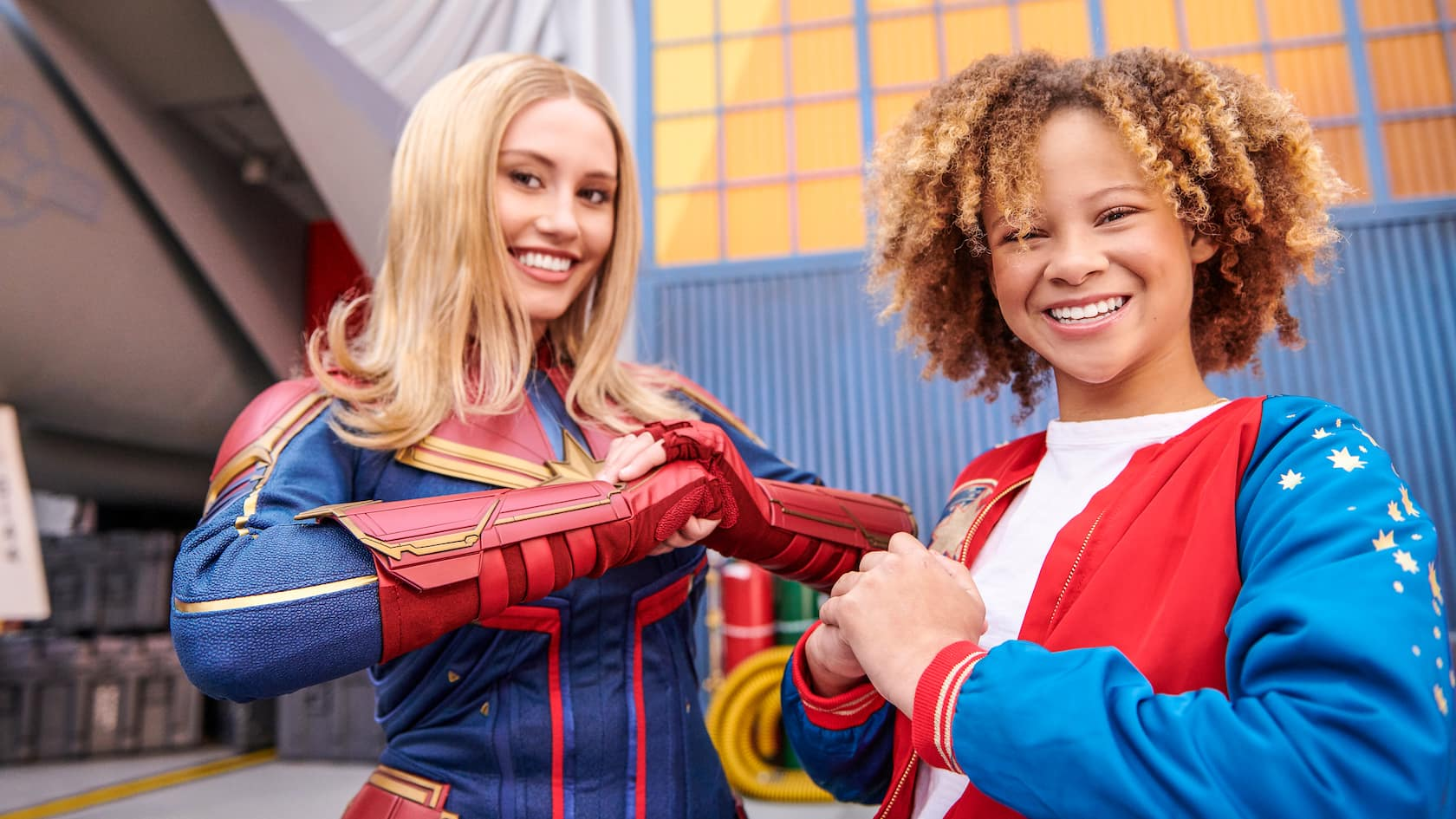 Meet Captain Marvel At California Adventure Disneyland Resort Captain marvel is a believer in truth and justice but also fights between the aggressiveness and quick tempered character that is within her. meet captain marvel at california