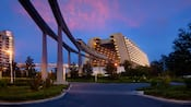 Disney Monorail runs near Disney's Contemporary Resort