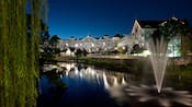 Disney's Beach Club Villas at night