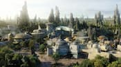 The outpost of Batuu, a part of Star Wars Galaxys Edge