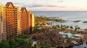 Una asombrosa vista de Aulani, A Disney Resort & Spa en Ko Olina, Hawái