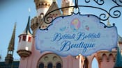 A sign that reads Bibbidi Bobbidi Boutique
