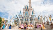 Mickey's Royal Friendship Faire in front of Cinderella Castle