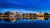 Disney's Coronado Springs Resort at night