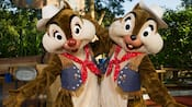 Chip 'n Dale in cowboy outfits