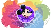 A painting of Mickey Mouse's face over the word Passholder
