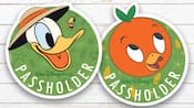 A Walt Disney World Passholder magnet with Donald Duck and another one with Orange Bird