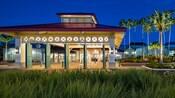 A entrada em estilo colonial do Disney's Caribbean Resort