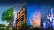 Cuatro Parques Temáticos mágicos de Walt Disney World