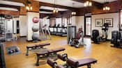 Fitness centre at Disney's Grand Californian Hotel & Spa