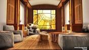 A rendering of the interior of Tenaya Stone Spa at Disney's Grand Californian Hotel & Spa