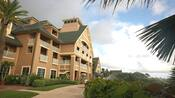 The back of the Resort's main building, overlooking the beach