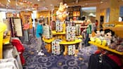 Guests browse through the colourful merchandise of a well-stocked gift shop